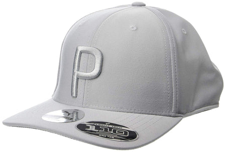 "Puma Golf ""P"" 110 Snapback Hat (One Size) - Quarry - Golf Country Online"