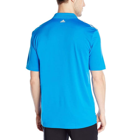 Adidas Golf Mens Climacool 3-Stripes Polo Shirt Shock Blue/white - Apparel - Tops