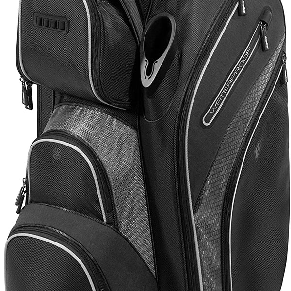 Bag Boy Golf Cart Revolver XP Bag 2021, Black/Charcoal/Silver
