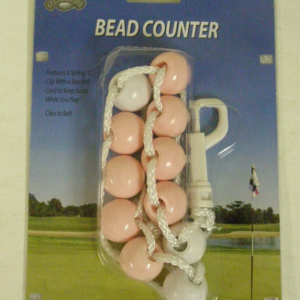 OnCourse Large Bead Golf Stroke Counter - Pink