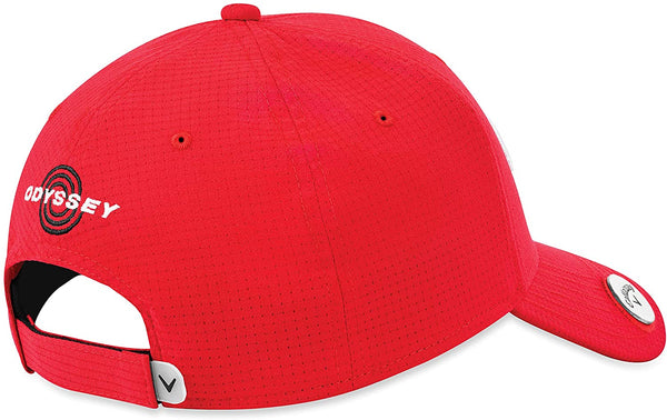 Callaway Golf Stitch Magnet/Ball Marker Hat, Red (ADJUSTABLE) - Golf Country Online