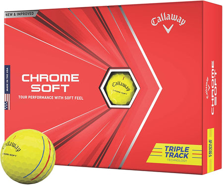 Callaway Chrome Soft Golf Balls (Triple Track Yellow)