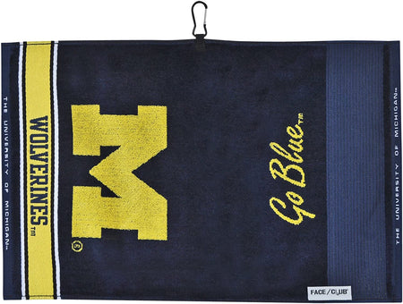 TEAM EFFORT JACQUARD UNIVERSITY OF MICHIGAN GOLF TOWEL