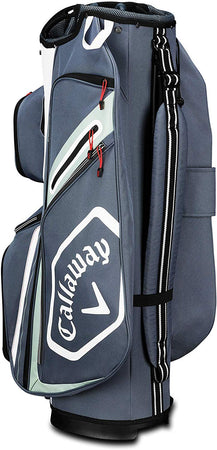Callaway Golf Chev Org Cart Bag - Titanium/White/Silver