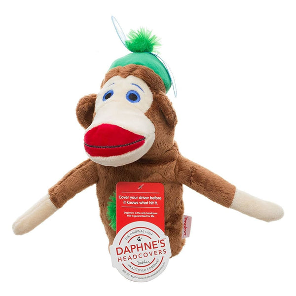 Daphnes Headcovers- Monkey Made Of Sockies - Boy Hybrid/utility Animal Headcover - Golf Headcovers