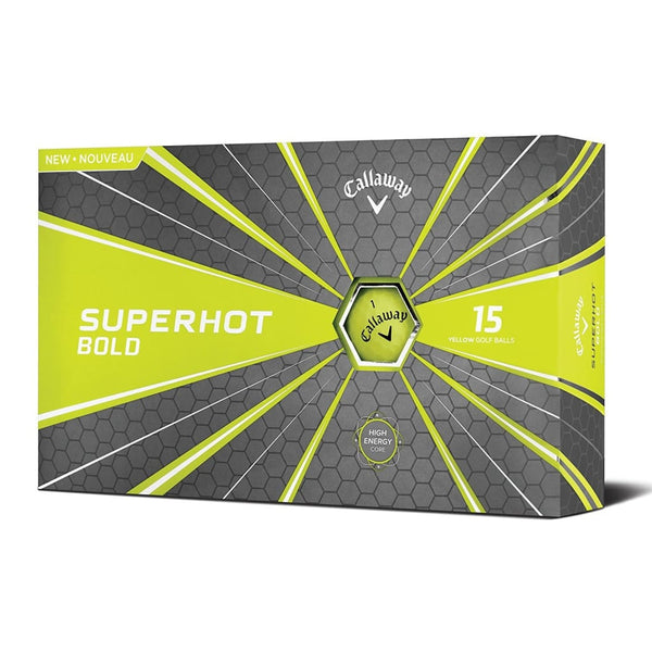 Callaway Golf 2018 Superhot Bold Matte Golf Balls (Pack Of 15) - Yellow - Golf Balls