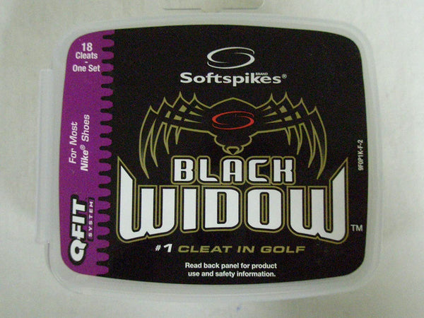 Softspikes Black Widow (Q-Fit) Golf Spikes - 18 Count
