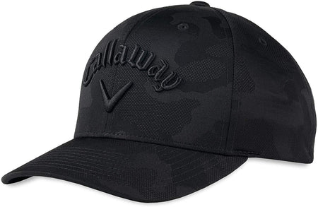 Callaway Golf 2021 Camo Flexfit Adjustable Hat - Black