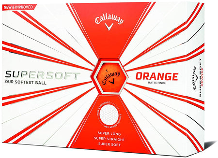 Callaway Supersoft Golf Balls (One Dozen) - Orange