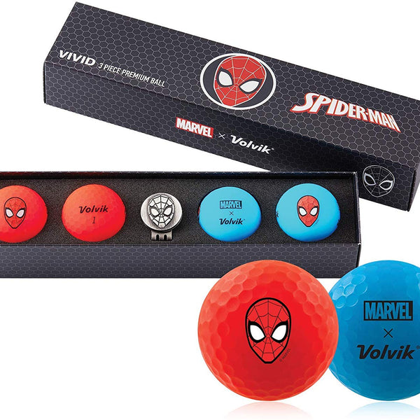 Volvik Vivid Marvel Golf Balls Spiderman 4-Ball Pack - Golf Country Online
