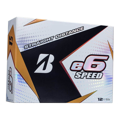 Bridgestone 2017 E6 Speed Golf Balls (One Dozen) - White - Golf Balls