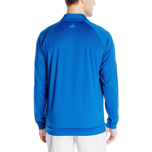 Adidas Golf Mens 3 Stripes 1/4 Zip Layering Top Eqt Blue - Cold Weather Apparel