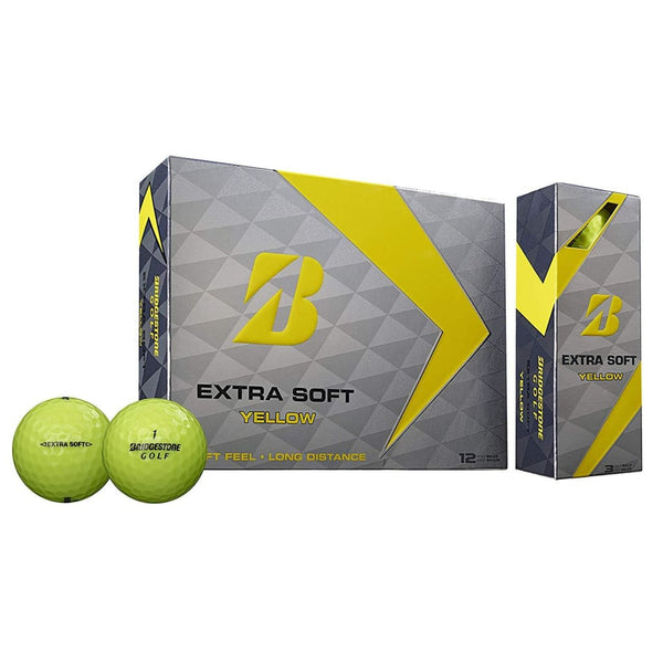 Bridgestone Golf Extra Soft Yellow  (12-Ball Pack) - Golf Country Online