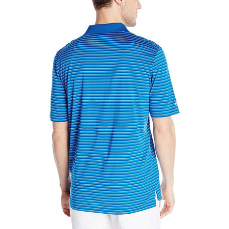 Adidas Golf Mens Performance 3-Color Stripe Polo Shirt Eqt Blue/shock Blue/white - Apparel - Tops