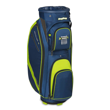 Bag Boy Revolver FX Cart Bag, Navy/Lime/Silver - Golf Country Online
