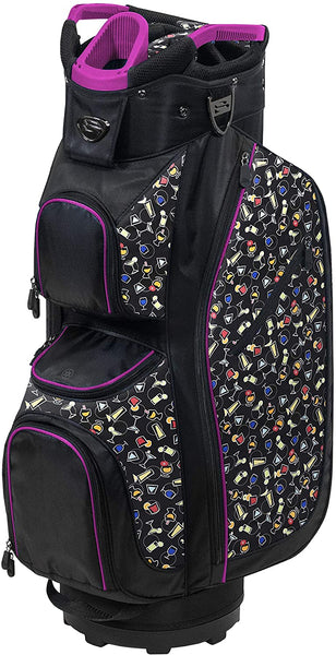 Burton LDX Plus Golf Cart Bag, Black/Pink/5 o'clock