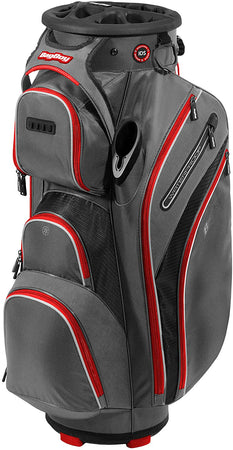 Bag Boy Golf Cart Revolver XP 2021 Bag, Charcoal/Black/Red