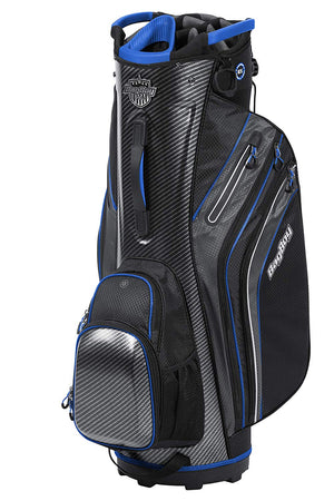 Bag Boy Shield Golf Cart Bag, Carbon Fiber/Black/Royal - Golf Country Online