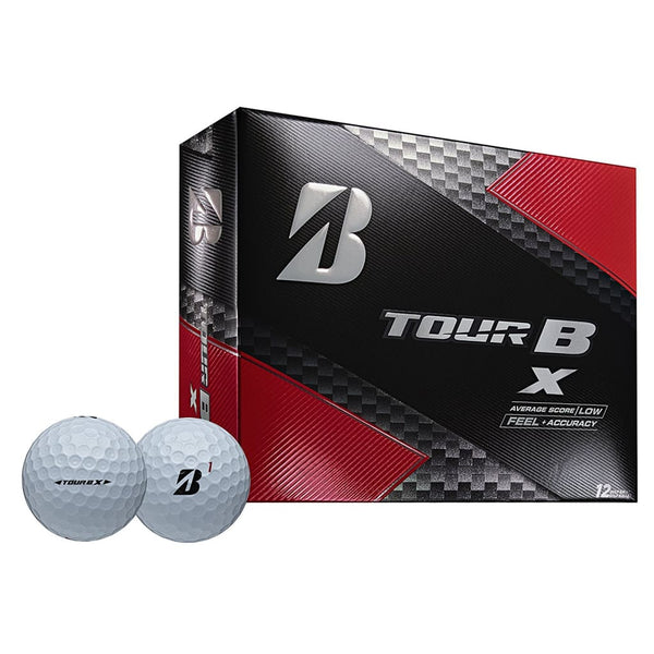 Bridgestone Golf Tour B X Golf Balls White (One Dozen) - Golf Balls