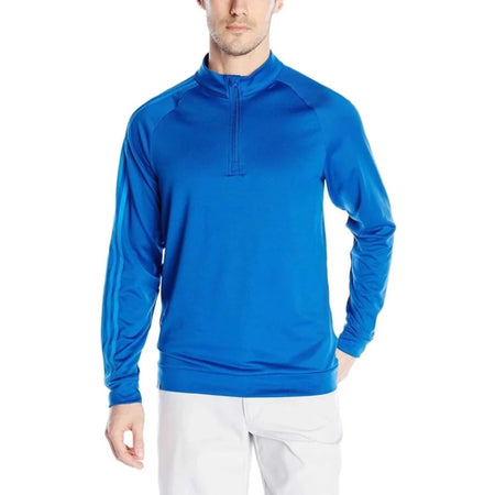 Adidas Golf Men's 3 Stripes 1/4 Zip Layering Top, EQT Blue - Golf Country Online