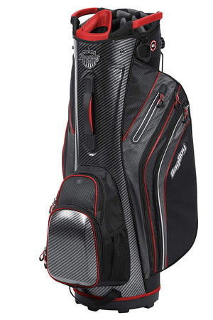 Bag Boy Shield Golf Cart Bag, Carbon Fiber/Black/Red - Golf Country Online