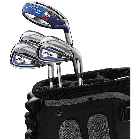 Adams Golf Left Handed Blue Combo Irons 3H,4H, 5-PW Steel - Golf Country Online
