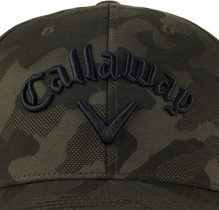Callaway Golf 2021 Camo Flexfit Adjustable Hat - Green