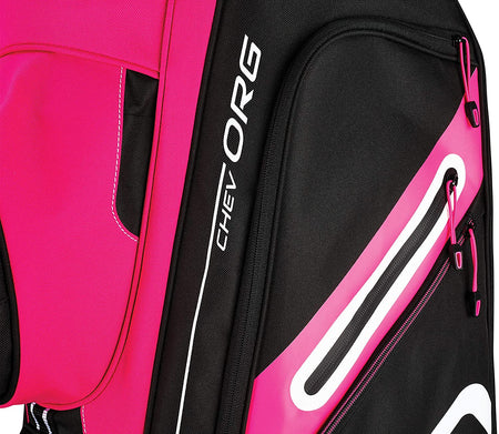 Callaway Golf Chev Org Cart Bag - Pink/Black/White - Golf Country Online