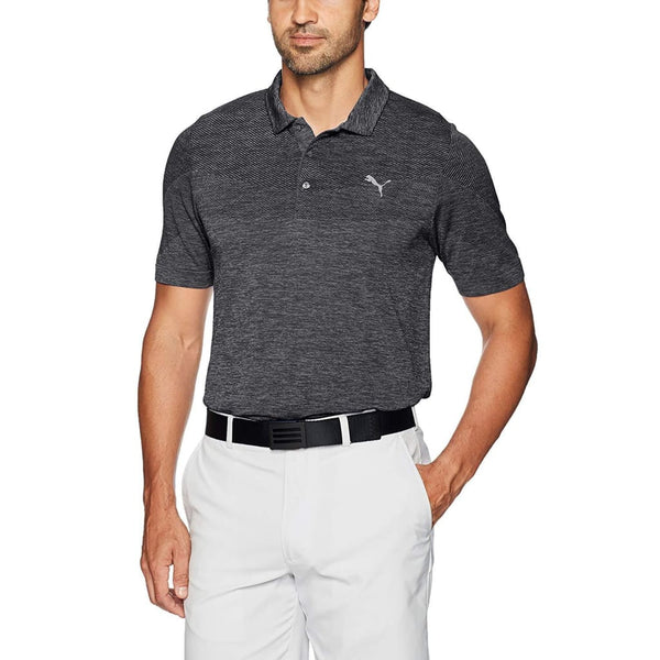Puma Golf Mens Evoknit Polo Black - Apparel - Tops