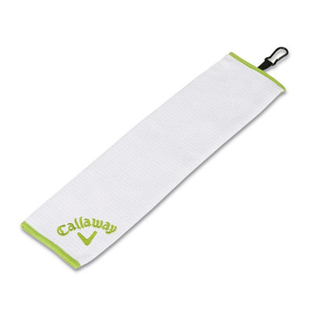 Callaway Golf Women's Solaire Trifold Towel, White/Green