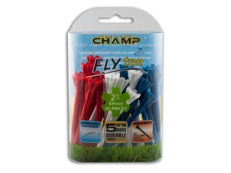 "Champ Zarma Fly Tees - 2 3/4"" - Patriotic - Red/White/Blue"