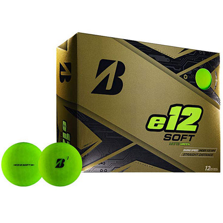 Bridgestone e12 SOFT Golf Balls Dozen Matte Green - Golf Country Online