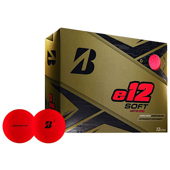 Bridgestone e12 SOFT Golf Balls Dozen Matte Red - Golf Country Online