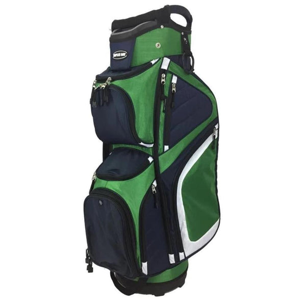 NAPLES BAY C290P SPACE SAVER GOLF CART BAG - NAVY/GREEN - Golf Country Online