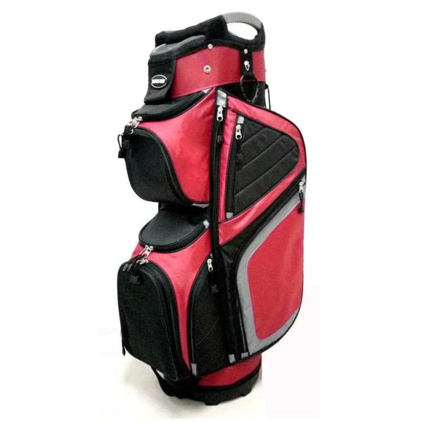 NAPLES BAY C290P SPACE SAVER GOLF CART BAG - RED/BLACK/SILVER - Golf Country Online