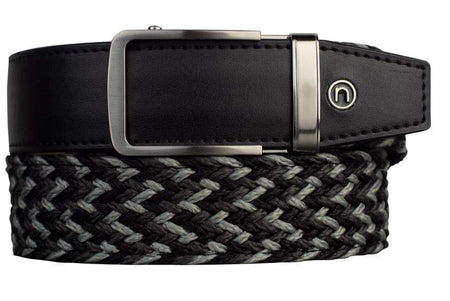 Nexbelt Braided Tri Color Charcoal w/Daniel Brushed Nickel