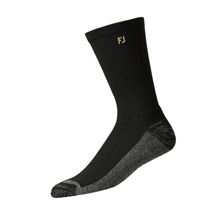 Footjoy Mens Prodry Extreme Crew Xl Socks Black (Shoe Sizes 12-15) - Golf Socks