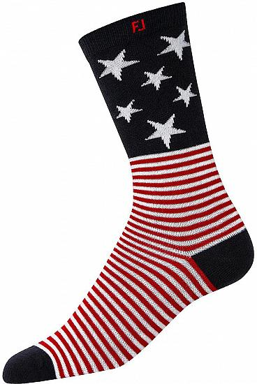 ProDry Limited Edition Fashion Crew Golf Socks - Stars and Stripes - Golf Country Online