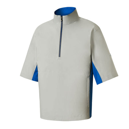 FootJoy Men's Hydrolite Short Sleeve Rain Shirt - Silver/Blue/Black