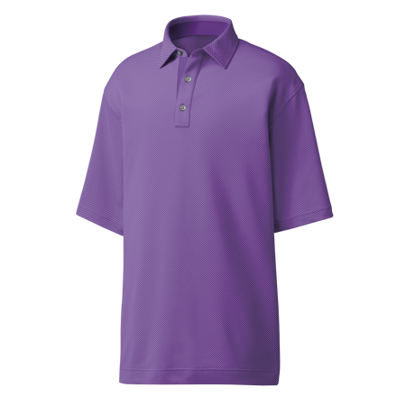FootJoy Men's 4 Dot Jacquard Self Collar Polo - Purple