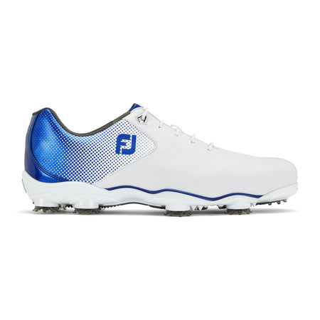 FootJoy D.N.A. Helix Golf Shoes - White/Blue #53334 - Golf Country Online