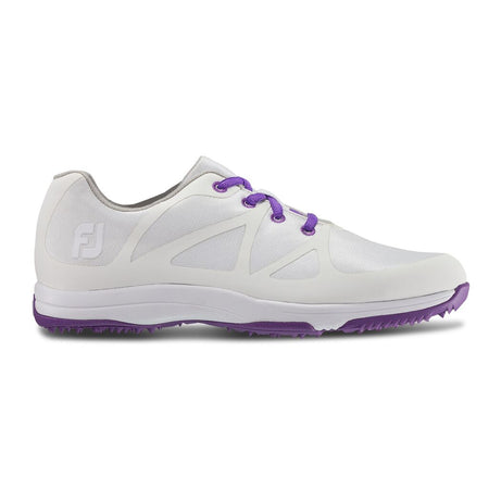 FootJoy Women's Leisure-Previous Season Golf Shoes White/Purple #92901 - Golf Country Online