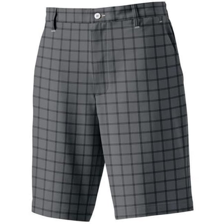 Footjoy Golf Plaid Shorts - Charcoal/black - Apparel - Bottoms