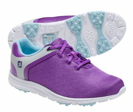 FootJoy Girls Sport SL Junior Golf Shoes-Previous Season Style, Purple (48207)