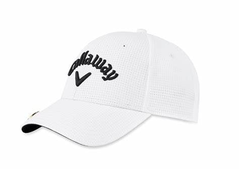 Callaway Golf Stitch Magnet/Ball Marker Hat, White (ADJUSTABLE)