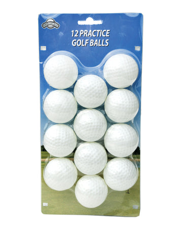 OnCourse Practice Plastic Dimpled Golf Balls - 12 Pack - White - Golf Country Online