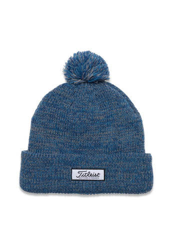 Titleist Patch PomPom Winter Hat - Heathered Blue - Golf Country Online