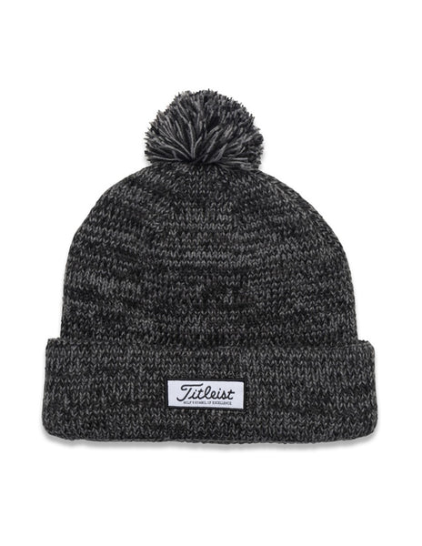 Titleist Patch PomPom Winter Hat - Heathered Black - Golf Country Online