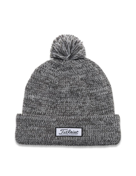 Titleist Patch PomPom Winter Hat - Heathered Grey - Golf Country Online