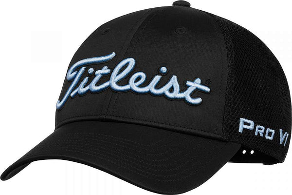 Titleist Golf- Tour Performance Mesh Cap/Hat Trend -BLACK/CARIBBEAN - Golf Country Online